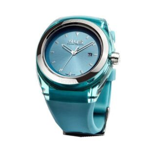 Orologio 4US Solo Tempo Acciaio Resina Silicone Crystal Cyan - T4CY123