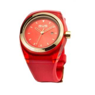 Orologio 4US Solo Tempo Acciaio Silicone Crystal Red Apple - T4CY125