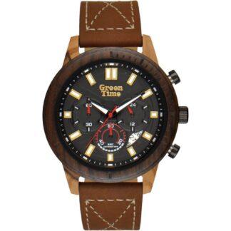 Orologio Green Time Cronografo Legno Eco Pelle - ZW100B