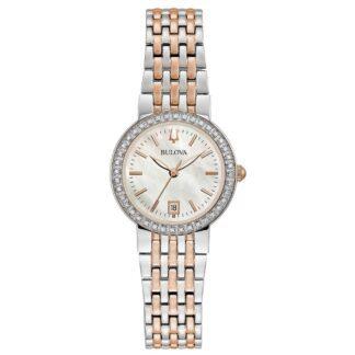 Orologio Solo Tempo Bulova in Acciaio con Diamanti - Classic Diamond - 98R280