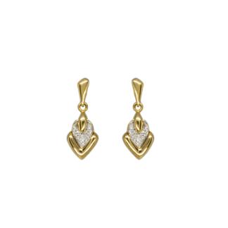 Orecchini Pendenti in Oro Giallo e Diamanti - 020203