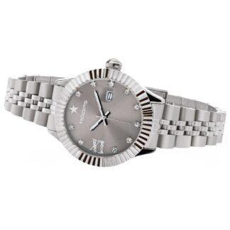Orologio Solo Tempo Hoops in Acciaio con Zirconi - New Luxury Diamonds - 2619LD-S04