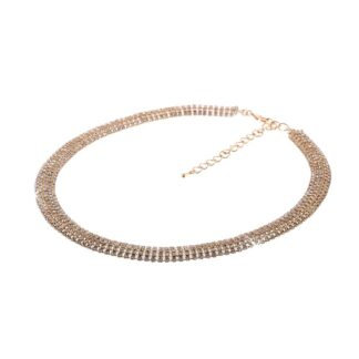 Collana Tennis Unoaerre in Bronzo con Cristalli - Wedding - 873