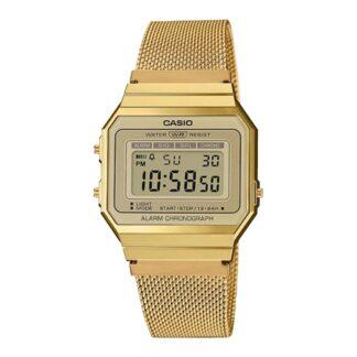 Orologio Cronografo Casio in Acciaio Dorato – Vintage - A700WEMG-9AEF