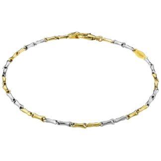 Bracciale Zancan in Oro Bianco e Oro Giallo - Eternity Gold - EB550BG