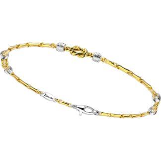 Bracciale Zancan in Oro Giallo e Oro Bianco - Eternity Gold - EB695GB