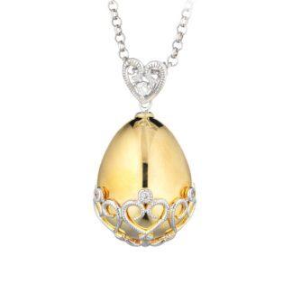 Ciondolo Tatiana Fabergé in Oro Giallo e Bianco con Diamanti – Elizaveta – ELP03