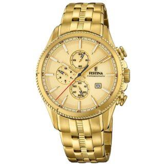 Orologio Cronografo Festina in Acciaio con PVD Oro Giallo - Prestige - F20418/1