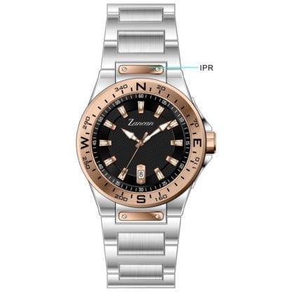 Orologio Solo Tempo Zancan in Acciaio Bicolore - Kompasstempo - HWT102