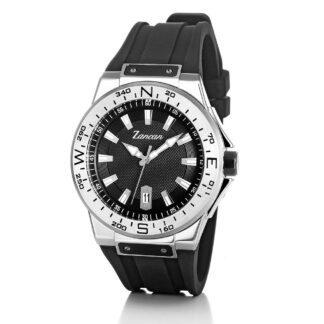Orologio Solo Tempo Zancan in Acciaio e Silicone - Kompasstempo - HWT104