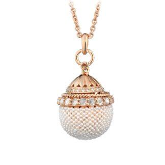 Collana Tatiana Fabergé in Oro Rosa con Diamanti e Perle – Matilda – MP3213