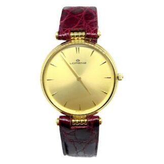 Orologio Solo Tempo Lorenz in Oro Giallo e Pelle - 014812DZ