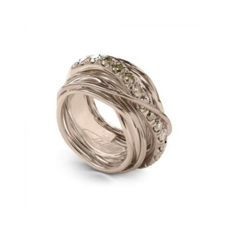 Anello 13 Fili in Oro Rosa 9kt con Diamanti Brown - Carato Collection - AN001RBR