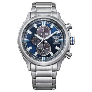 Orologio Eco Drive Cronografo Citizen in Acciaio - Crono Sport - CA0731-82L
