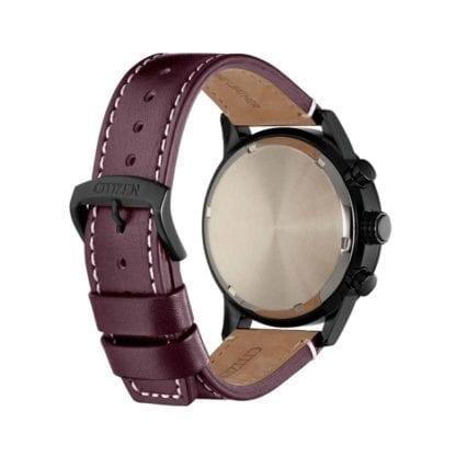 Orologio Eco Drive Cronografo Citizen in Acciaio e Pelle - Urban - CA0745-11E