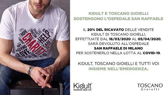 Kidult e Toscano Gioielli insieme per il Covid-19