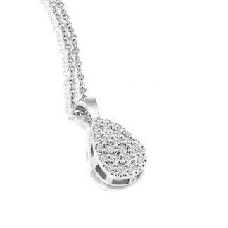 Collana Mey in Oro Bianco con Diamanti | Goccia - CDMEY GCS-DW
