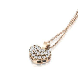 Collana Mey in Oro Rosa con Diamanti | Cuore - CDMEY HRT-DR