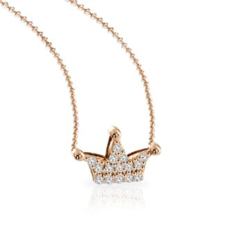 Collana Mey in Oro Rosa con Diamanti   Corona - CDMEY QNN-DR