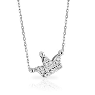 Collana Mey in Oro Bianco con Diamanti | Corona - CDMEY QNN-DW