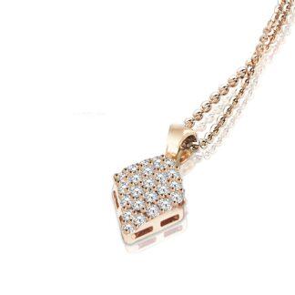 Collana Mey in Oro Rosa con Diamanti   Rombo - CDMEY RMB-DR