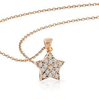 Collana Mey in Oro Rosa con Diamanti | Stella - CDMEY STR-DR