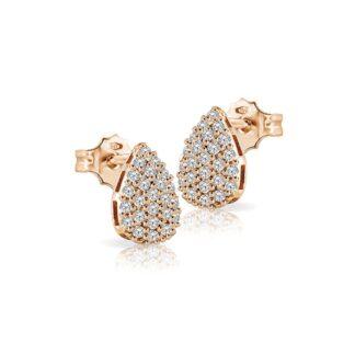 Orecchini Mey in Oro Rosa con Diamanti | Goccia - ORMEY GCS-DR