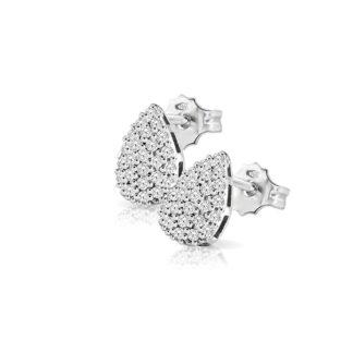Orecchini Mey in Oro Bianco con Diamanti | Goccia - ORMEY GCS-DW