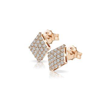 Orecchini Mey in Oro Rosa con Diamanti | Rombo - ORMEY RMB-DR