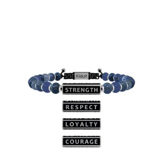 Bracciale Kidult in Acciaio e Pietre Strenght Respect Loyalty Courage - Philosophy - 731784