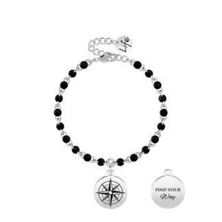 Bracciale Kidult Acciaio Rosa dei Venti | Direzione - Symbols - 731851