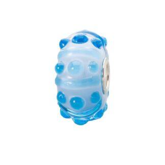 Beads Trollbeads in Argento e Vetro - Blu Cielo - TGLBE-20119