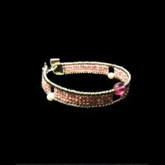 Bracciale Ziio in Argento e Vetro di Murano con Perle - BR SIL ROSA