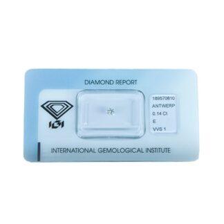 Diamante Blisterato Certificato IGI da 0.14 Carati - 189570810