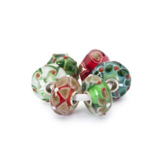 Set Beads Trollbeads in Argento e Vetro - Regalo di Natale - TGLBE-00076