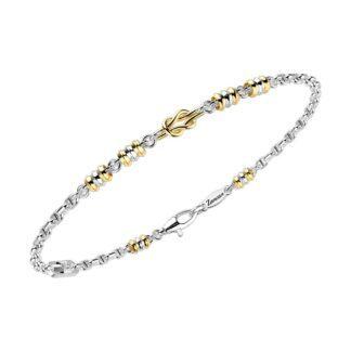 Bracciale Zancan in Oro Giallo e Bianco | Nodo - Insignia Gold - EB694BG