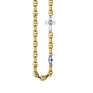 Collana Zancan in Oro Bicolore con Zaffiri - Eternity Gold - EC864GB-ZB